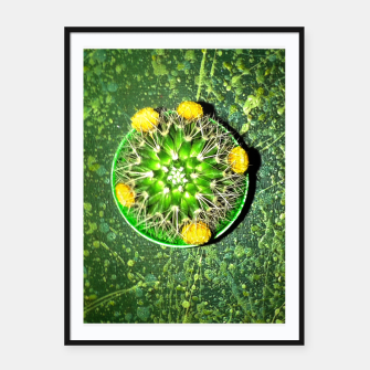 Thumbnail image of Planet Cactus Framed poster, Live Heroes