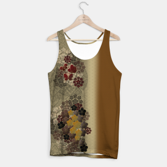 Thumbnail image of Japanese traditional emblem art flower and butterfly vintage gold Tank Top, Live Heroes