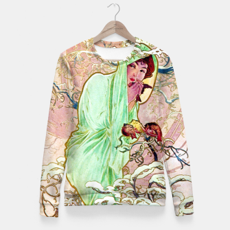 Thumbnail image of Alphonse Mucha Winter Woman cotton sweater, Live Heroes