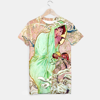 Thumbnail image of Alphonse Mucha Winter T-shirt, Live Heroes