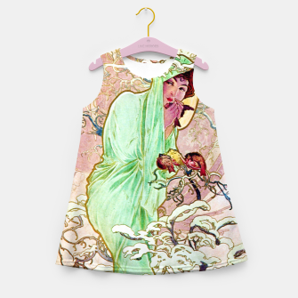 Thumbnail image of Alphonse Mucha Winter Girl's summer dress, Live Heroes