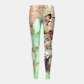 Thumbnail image of Alphonse Mucha Winter Girl's leggings, Live Heroes