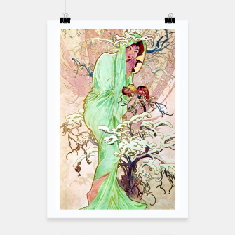 Thumbnail image of Alphonse Mucha Winter Poster, Live Heroes