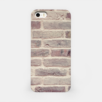 Thumbnail image of Wall built with bricks of various earth tones iPhone Case, Live Heroes
