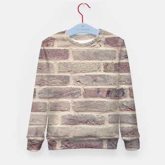 Thumbnail image of Wall built with bricks of various earth tones Kid's Sweater, Live Heroes