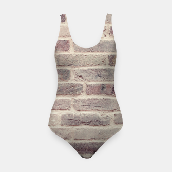 Thumbnail image of Wall built with bricks of various earth tones Swimsuit, Live Heroes