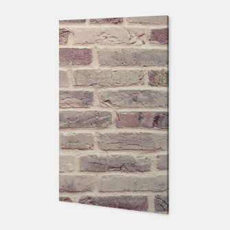 Thumbnail image of Wall built with bricks of various earth tones Canvas, Live Heroes