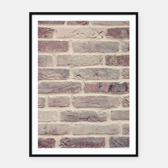 Thumbnail image of Wall built with bricks of various earth tones Framed poster, Live Heroes