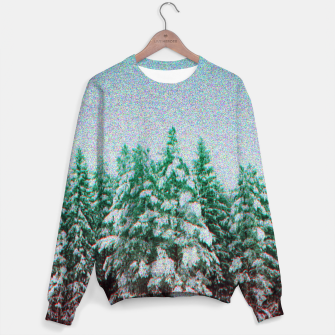 Miniatur glitchy forest Sweater, Live Heroes