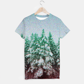 Thumbnail image of glitchy forest T-shirt, Live Heroes