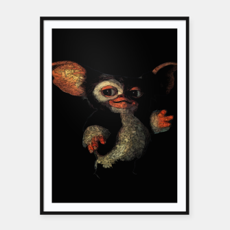 Miniatur 80s Gremlins Gizmo horror comedy cute animal painting, Live Heroes