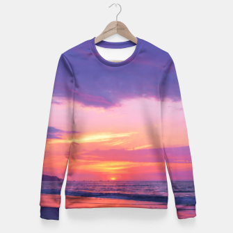 Thumbnail image of Broken sunset by #Bizzartino Fitted Waist Sweater, Live Heroes