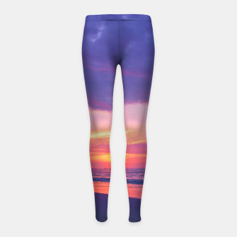 Thumbnail image of Broken sunset by #Bizzartino Girl's Leggings, Live Heroes