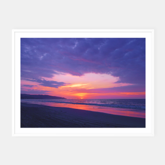 Thumbnail image of Broken sunset by #Bizzartino Framed poster, Live Heroes