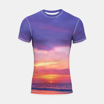 Thumbnail image of Broken sunset by #Bizzartino Shortsleeve Rashguard, Live Heroes