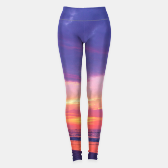 Thumbnail image of Broken sunset by #Bizzartino Leggings, Live Heroes