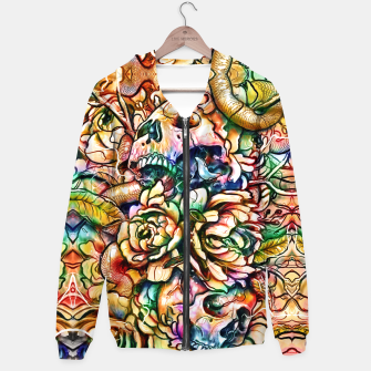 Thumbnail image of Skulls and Flowers Hoodie, Live Heroes