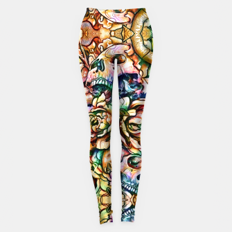 Thumbnail image of Skulls and Flowers Leggings, Live Heroes