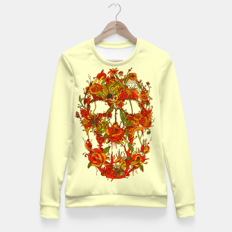 Thumbnail image of Skull Flora Fitted Waist Sweater, Live Heroes