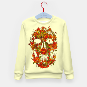 Thumbnail image of Skull Flora Kid's Sweater, Live Heroes