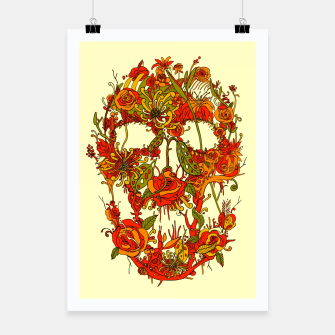 Thumbnail image of Skull Flora Poster, Live Heroes