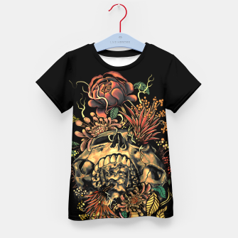 Thumbnail image of Skull Flora Kid's T-shirt, Live Heroes