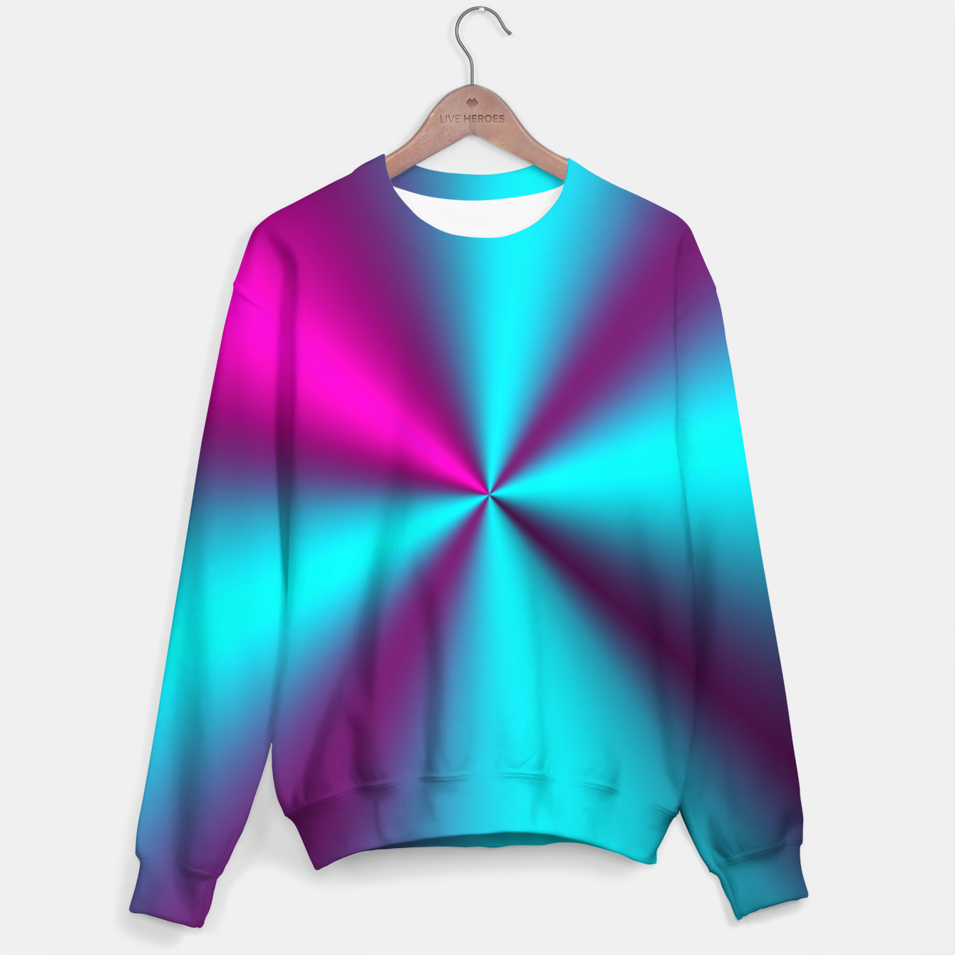 Zdjęcie Violet Illusion silk waves Sweater - Live Heroes