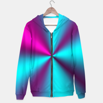 Violet Illusion silk waves Hoodie obraz miniatury