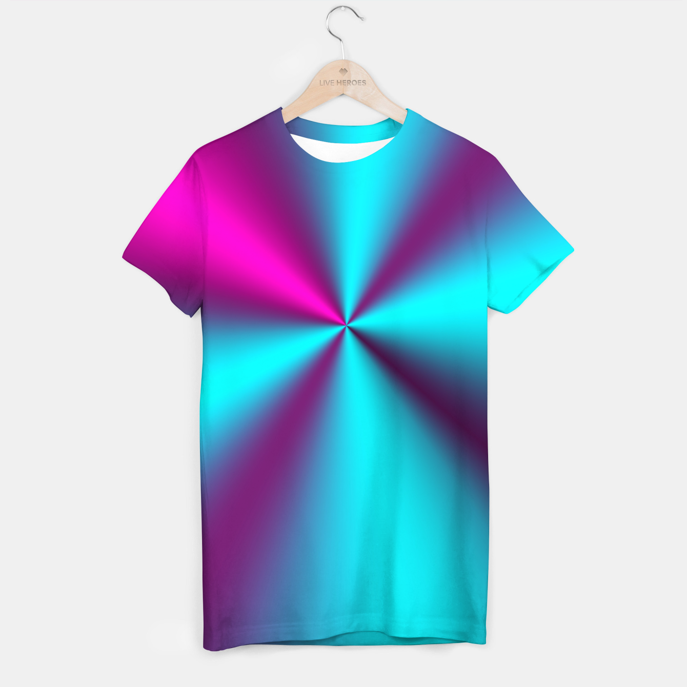 Zdjęcie Violet Illusion silk waves T-shirt - Live Heroes