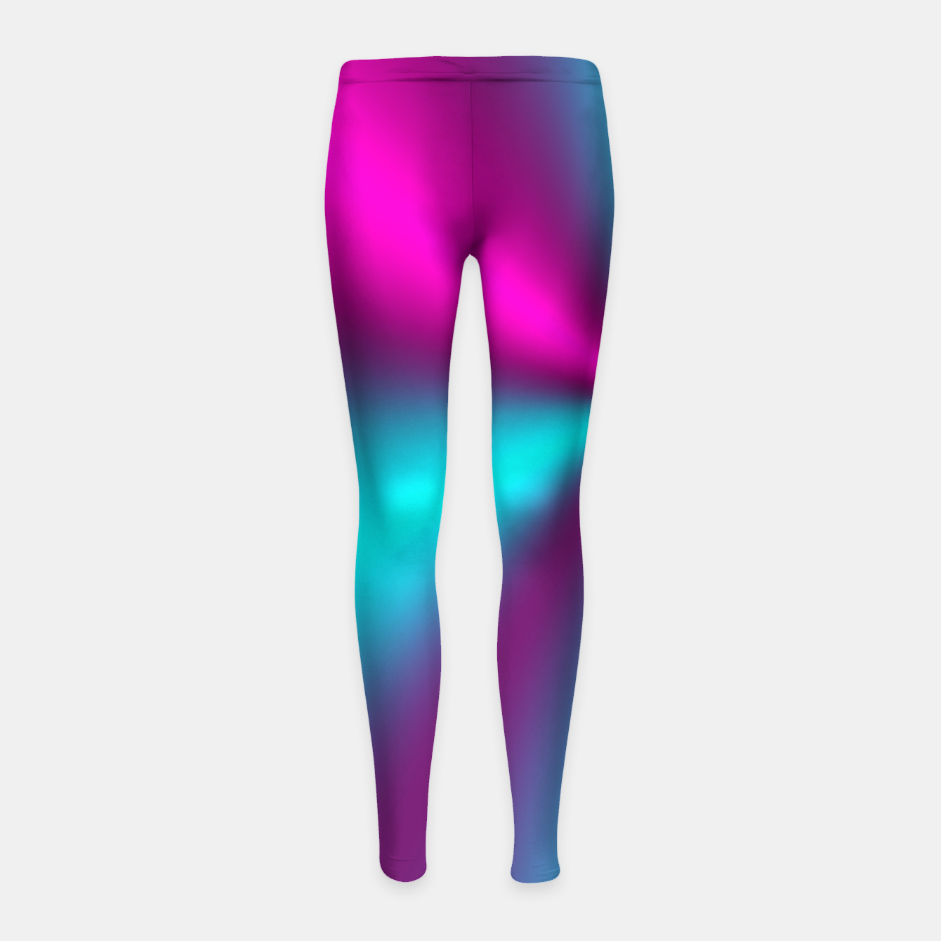 Zdjęcie Violet Illusion silk waves Girl's Leggings - Live Heroes