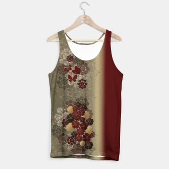 Thumbnail image of Japanese traditional emblem art flower and butterfly red Tank Top, Live Heroes