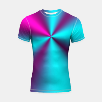 Violet Illusion silk waves Shortsleeve Rashguard obraz miniatury