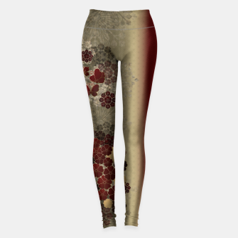 Thumbnail image of Japanese traditional emblem art flower and butterfly red Leggings, Live Heroes