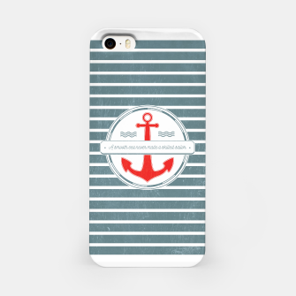 Miniatur A Smooth Sea Never Made a Skilled Sailor iPhone Case, Live Heroes