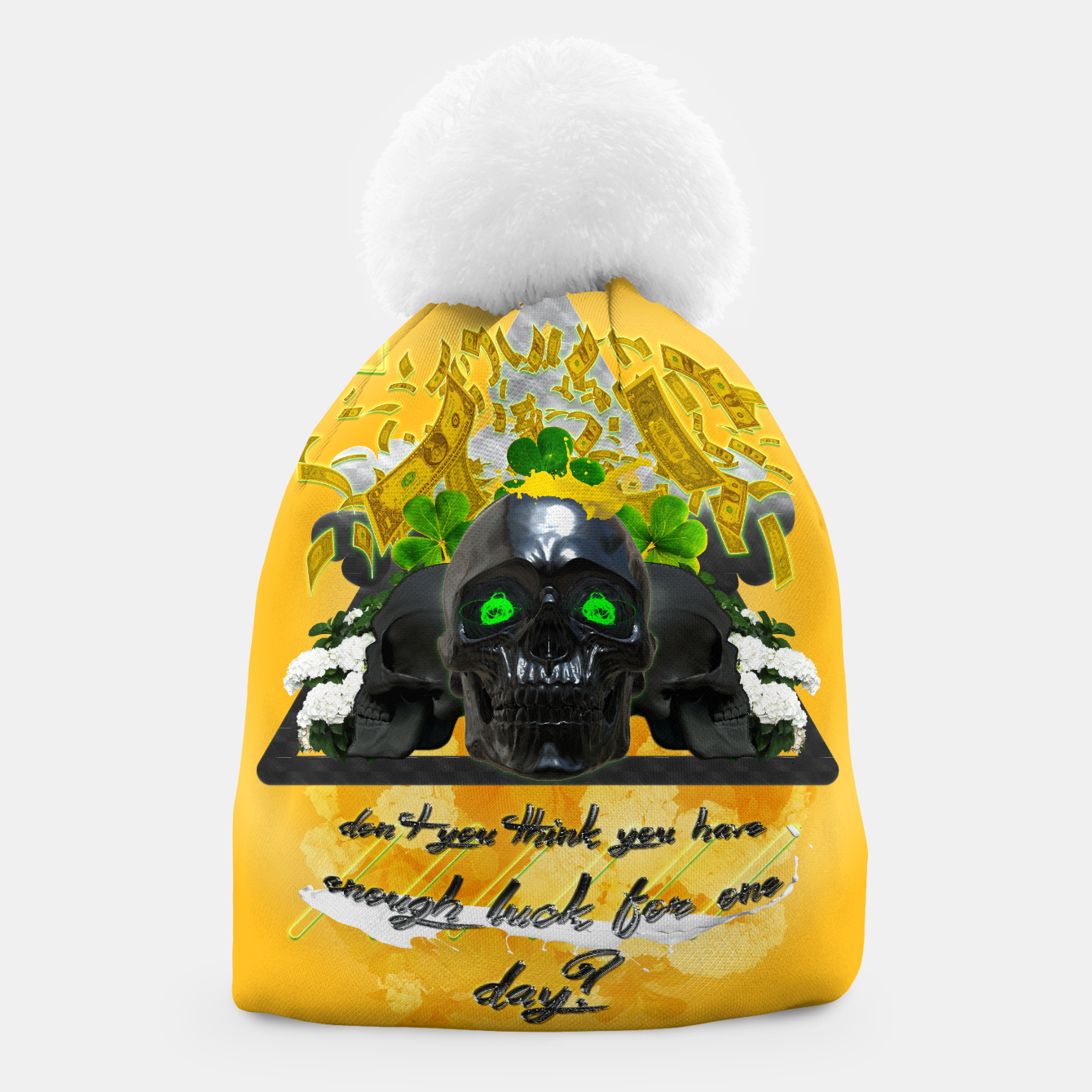 Image of don't you think you got enough luck for one day Beanie - Live Heroes
