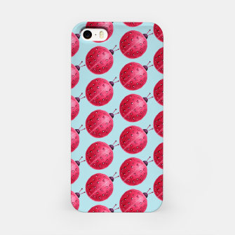 Watercolor Pink Ladybug Pattern iPhone Case thumbnail image