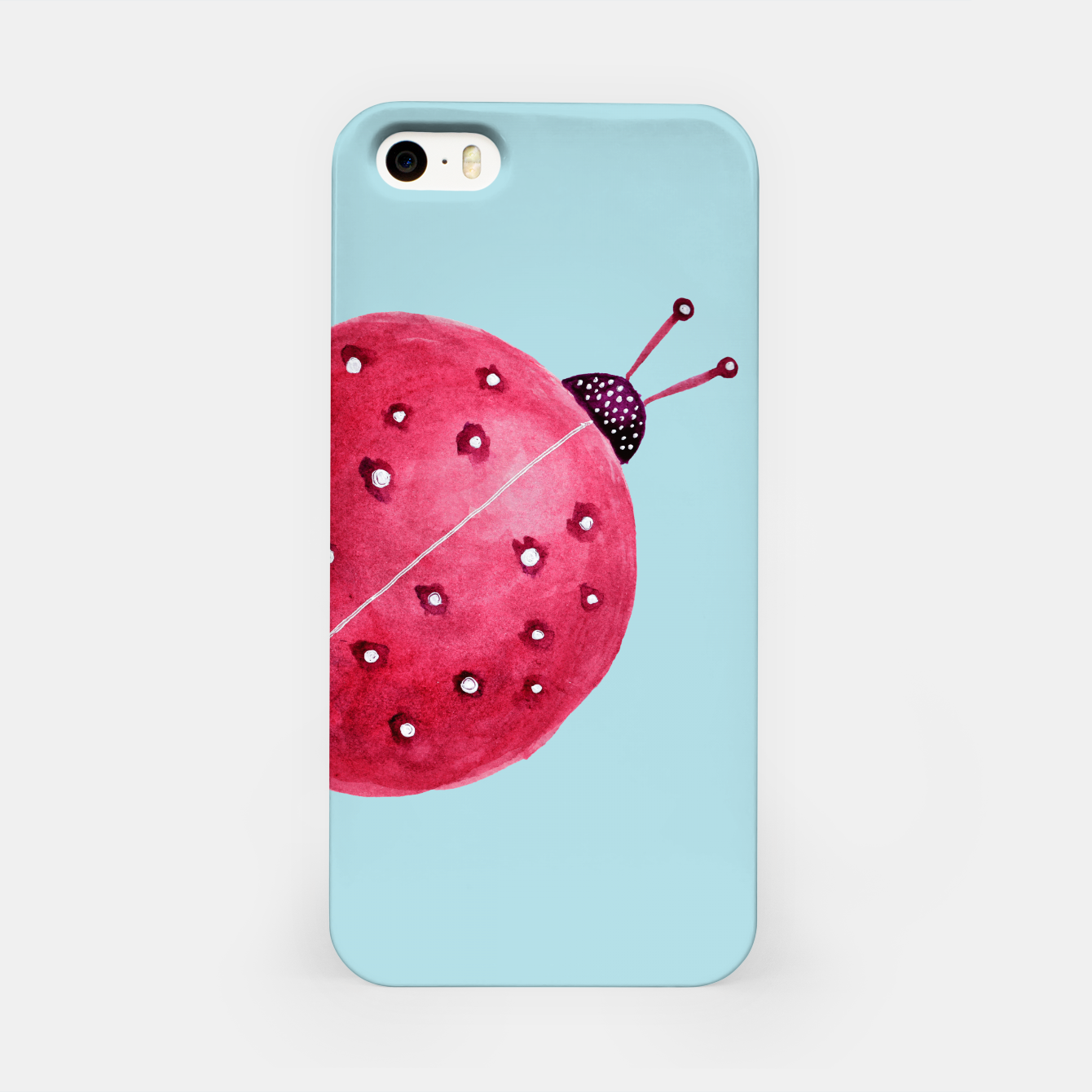Image of Cute Abstract Watercolor Ladybug iPhone Case - Live Heroes