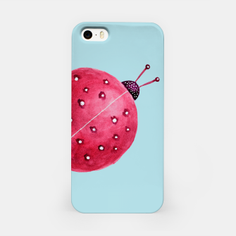 Thumbnail image of Cute Abstract Watercolor Ladybug iPhone Case, Live Heroes