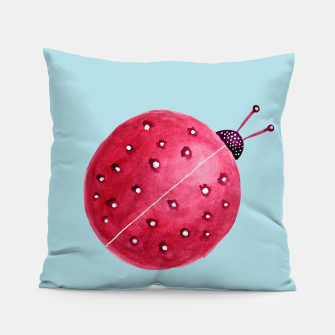 Thumbnail image of Cute Abstract Watercolor Ladybug Pillow, Live Heroes