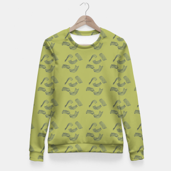 Thumbnail image of MAD MOVEMENT Flourish Fitted Waist Sweater, Live Heroes