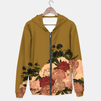 Miniaturka Japanese style peony decoration yellow Hoodie, Live Heroes