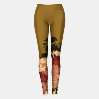 Thumbnail image of Japanese style peony decoration yellow Leggings, Live Heroes