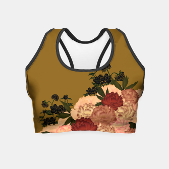 Miniaturka Japanese style peony decoration yellow Crop Top, Live Heroes