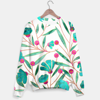 Thumbnail image of Turquoise Floral Sweater, Live Heroes