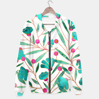 Thumbnail image of Turquoise Floral Hoodie, Live Heroes