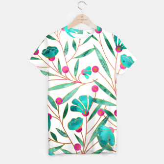 Thumbnail image of Turquoise Floral T-shirt, Live Heroes