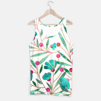 Thumbnail image of Turquoise Floral Tank Top, Live Heroes