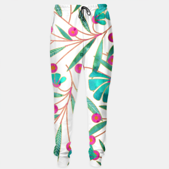 Thumbnail image of Turquoise Floral Sweatpants, Live Heroes