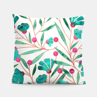 Thumbnail image of Turquoise Floral Pillow, Live Heroes