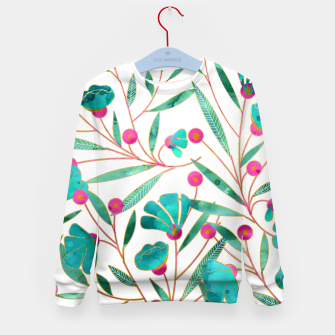 Thumbnail image of Turquoise Floral Kid's Sweater, Live Heroes